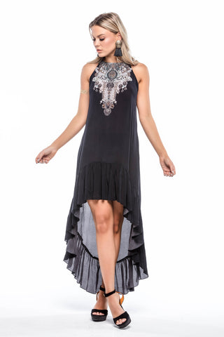 Chinoiserie Poinsettia 3 Way Shahida Parides Dress