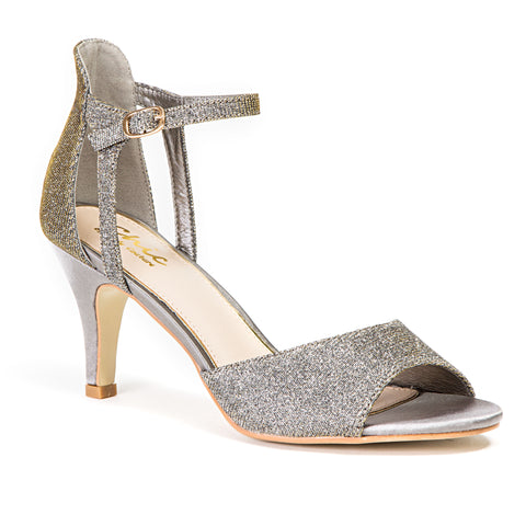 BABE PEWTER LADY COUTURE SHOES
