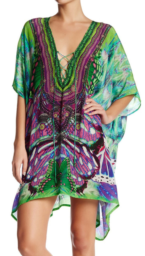 Purple Avatar Shahida Parides 4 Way Medium Kaftan