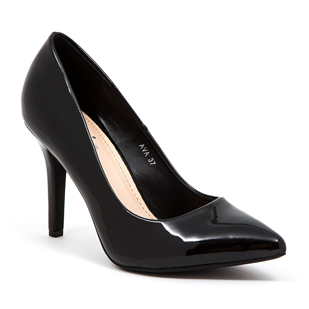 AVA PATENT BLACK LADY COUTURE SHOES
