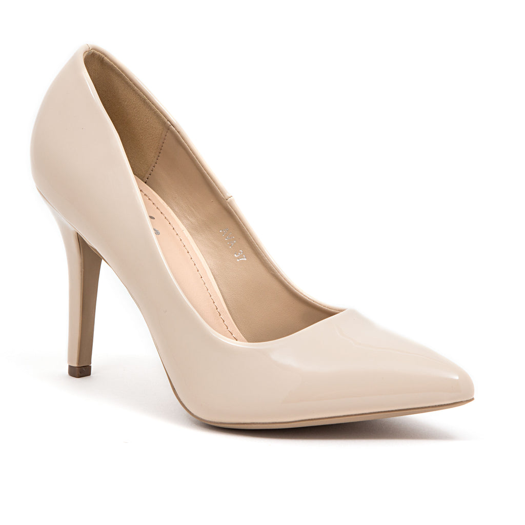 AVA PATENT NUDE LADY COUTURE SHOES
