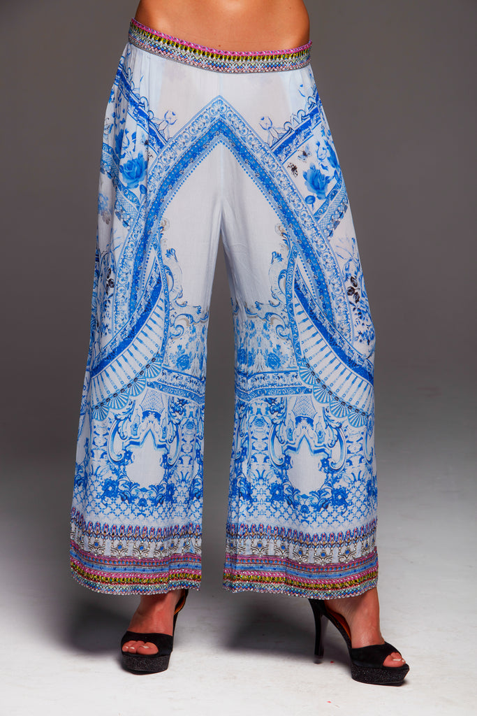 A DAY IN GREECE CZARINA PALLAZO PANTS