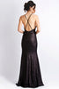 Alison Sequin Black Gold Baccio Couture Gown