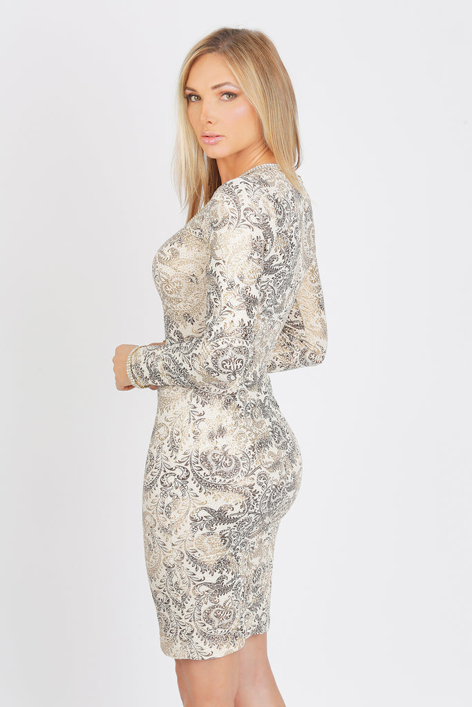 Ashley Short Glitter Baccio Couture Dress