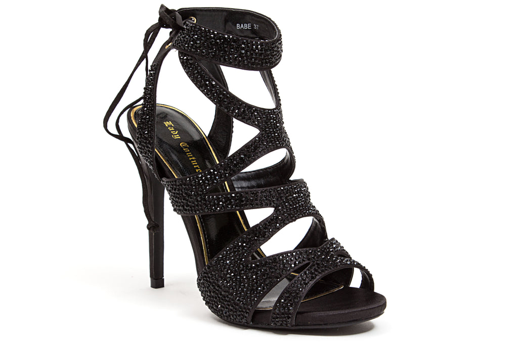 BABE BLACK LADY COUTURE SHOES