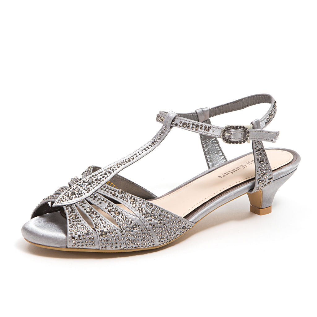 BETTY PEWTER LADY COUTURE SHOES
