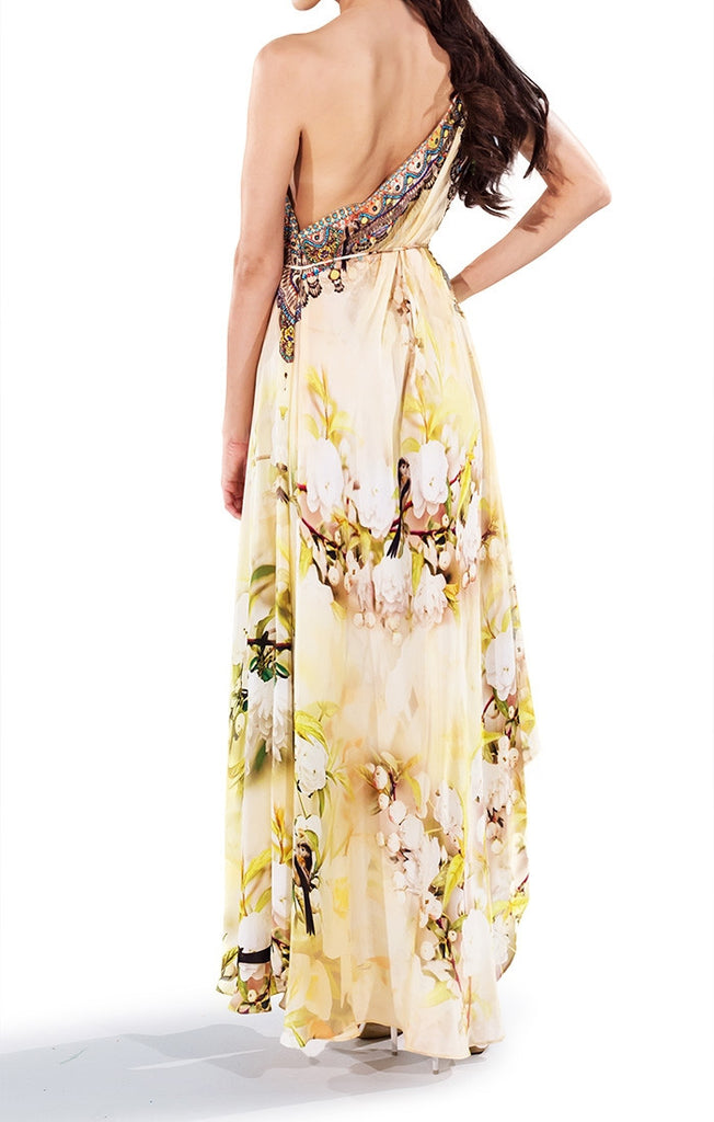 Cherry Blossom Infinity Long 3 Way Dress Parides