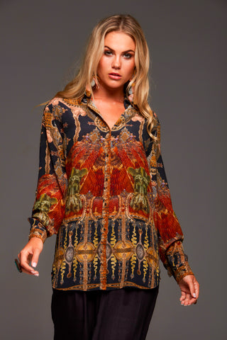 TAKE ME THROUGH THE NIGHT CZARINA ROUND-NECK LONG KAFTAN