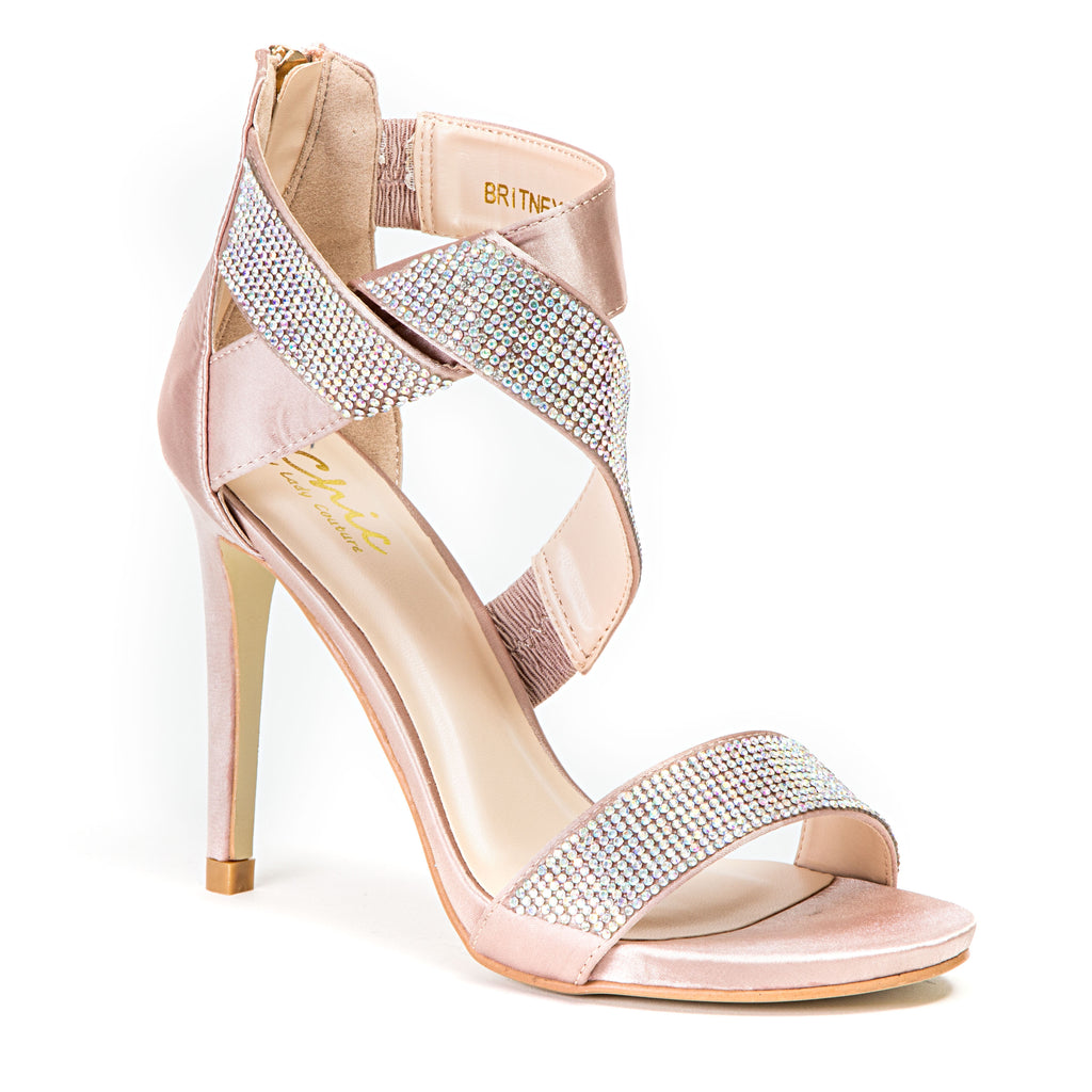 BRITNEY CHAMPAGNE LADY COUTURE SHOES