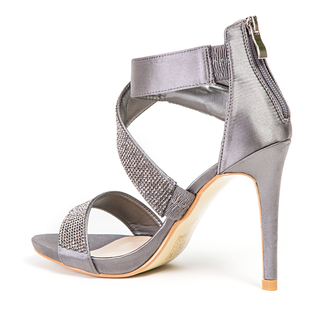 BRITNEY PEWTER LADY COUTURE SHOES
