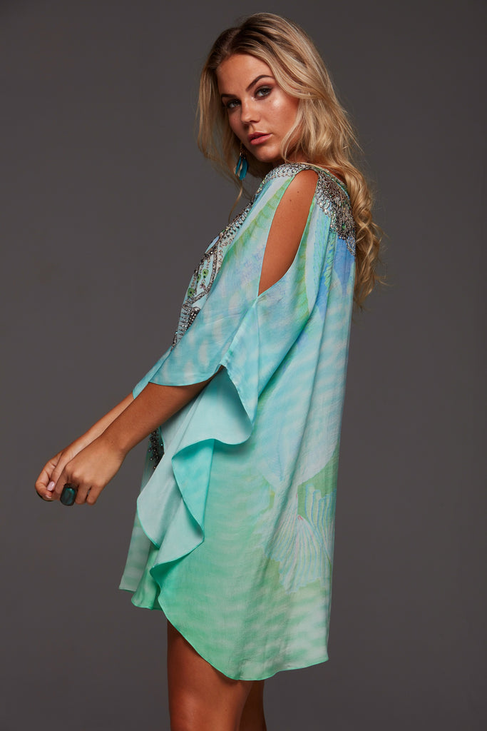 BY THE OCEAN CZARINA BUTTERFLY TOP W SLIT