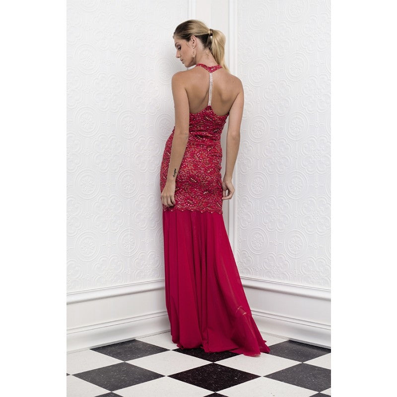 Abby Painted Baccio Couture Long Gown