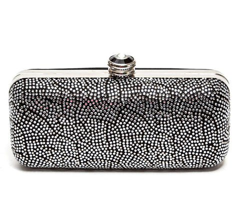 Onyx Pewter Clutch Lady Couture