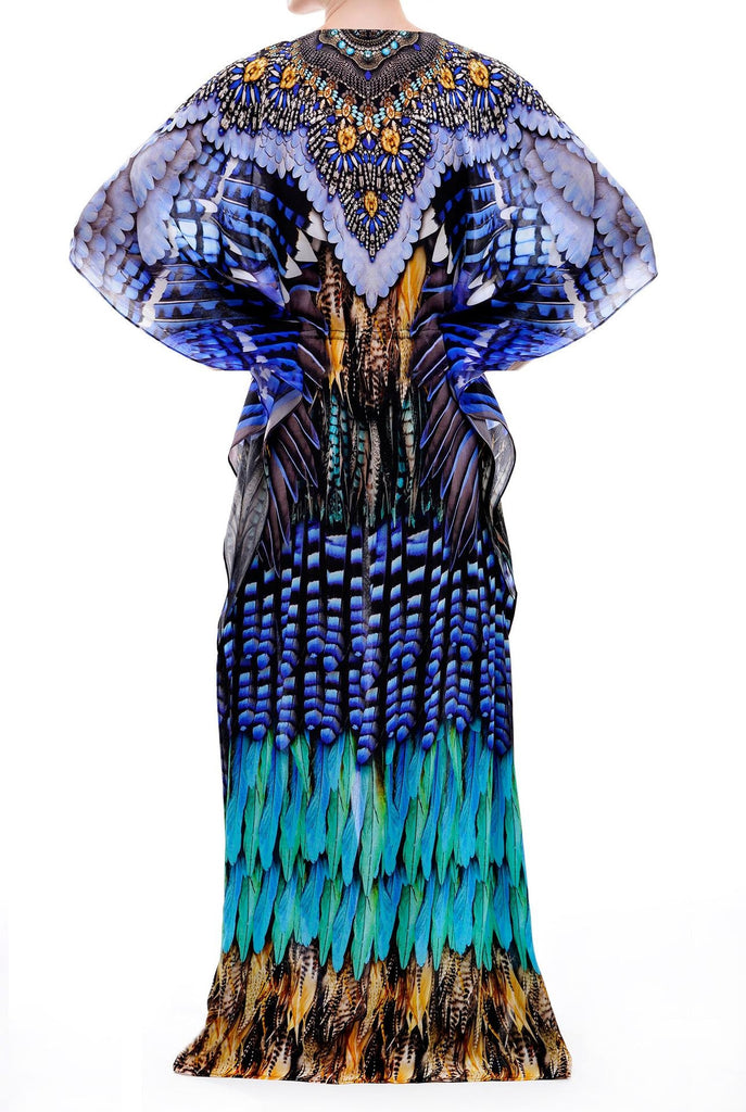 Blue Jay Long Kaftan Parides