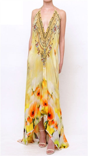Creme Souffle California Poppy Shahida Parides 3 Way Dress