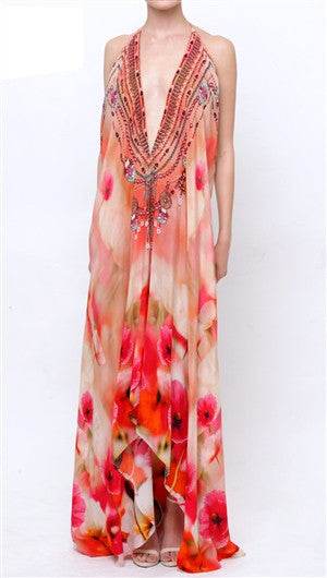 Georgia California Poppy Shahida Parides 3 Way Dress