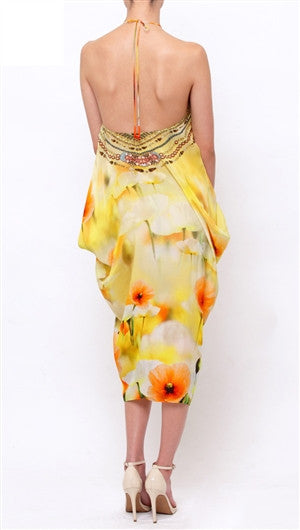 Creme Souffle California Poppy Shahida Parides 4 Way Kaftan