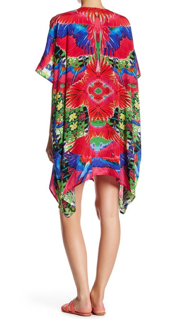 Fuchsia Crochet Shahida Parides 4 Way Medium Kaftan