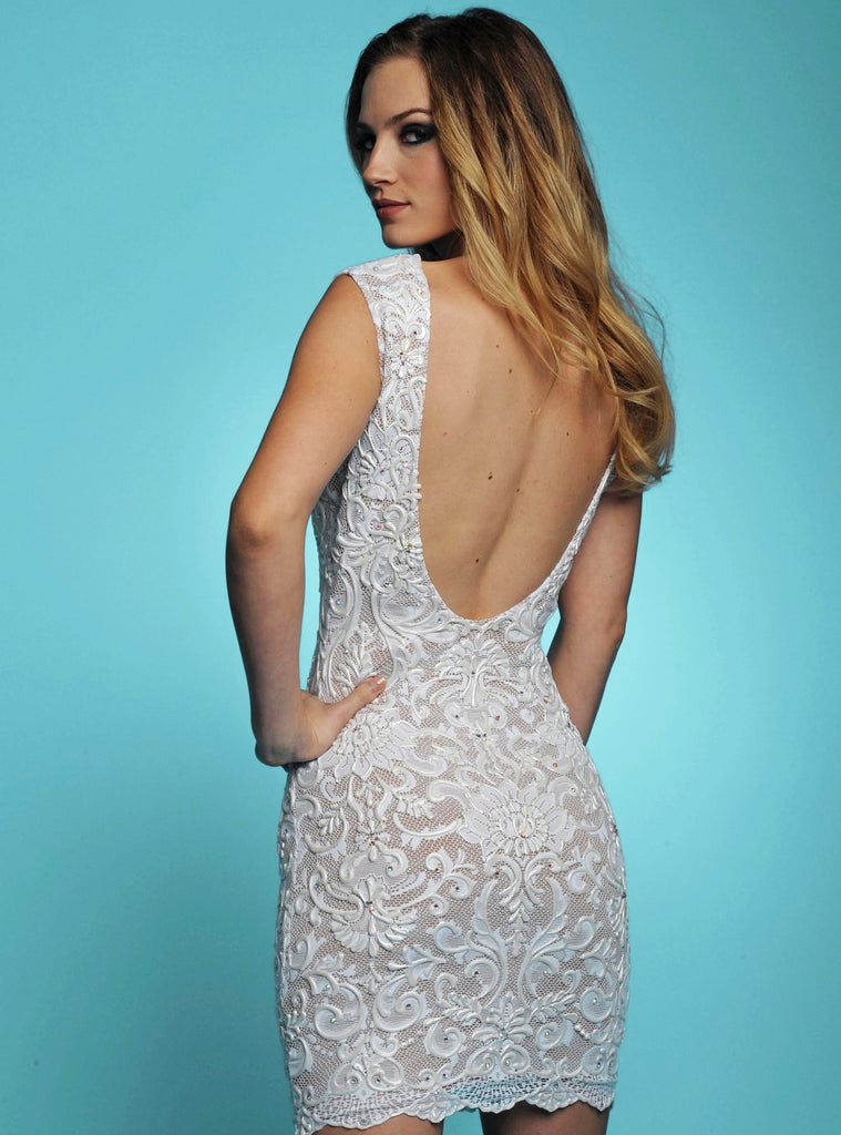 Casey White Painted Baccio Couture Dress