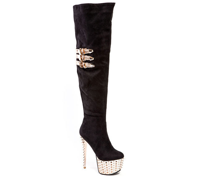 Club Black/Gold Lady Couture Boots