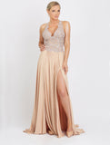 Cristy Long Caviar Baccio Couture Gown