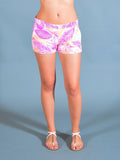 Queen Pink Jungle Leaf Amanda Uprichard Shorts
