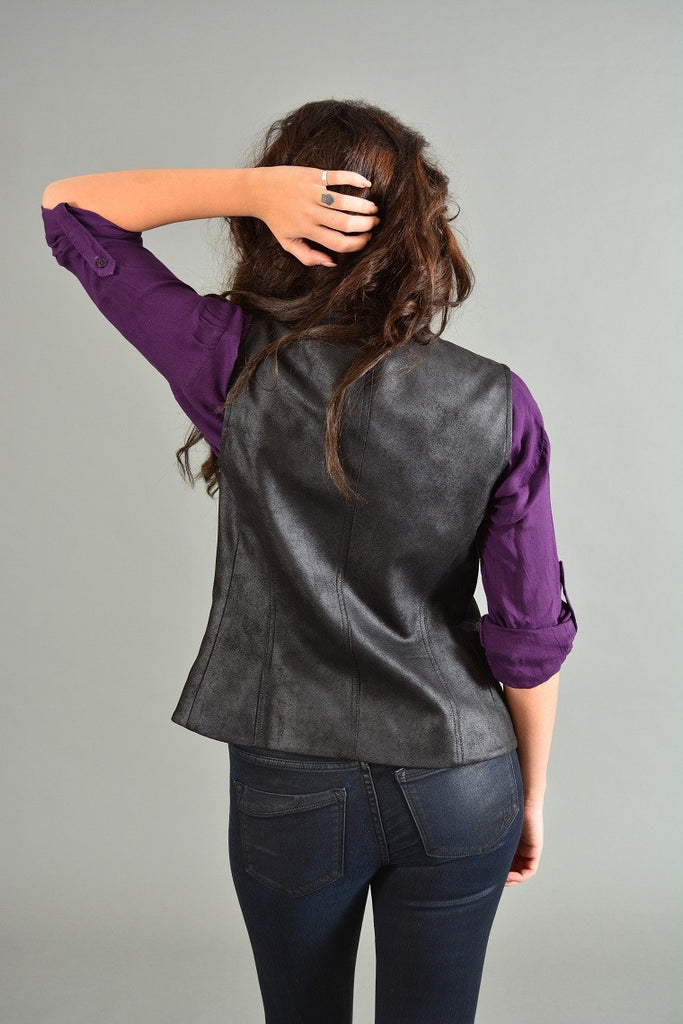 New Uplands Faux Leather Vest SW3 Bespoke