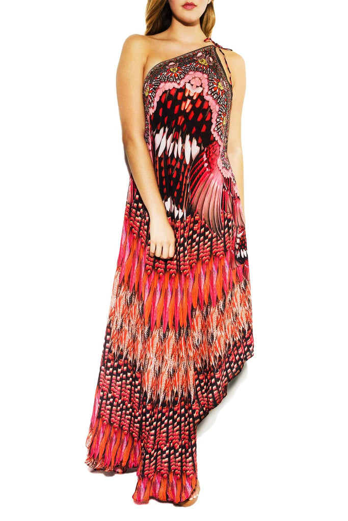 Blue Jay Marsala Infinity Long 3 Way Dress Parides