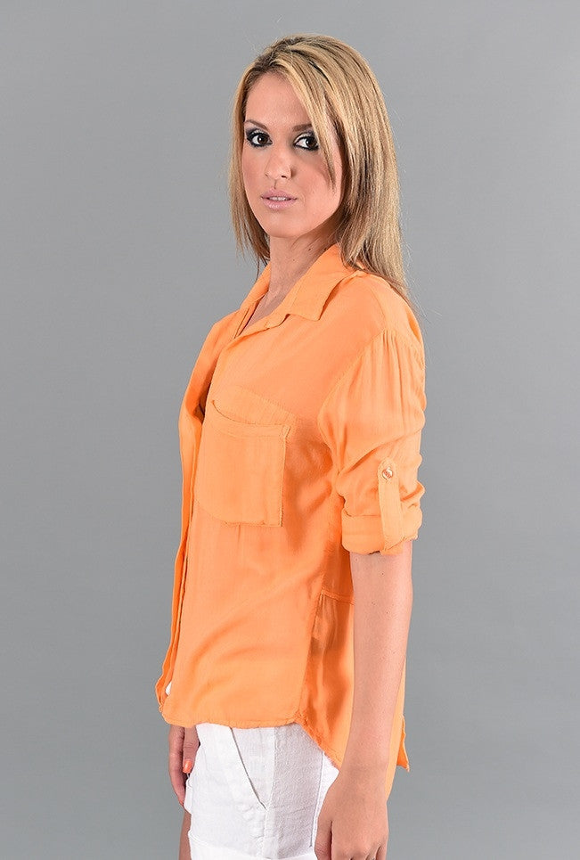 Split Back Button Down Bella Dahl Shirt