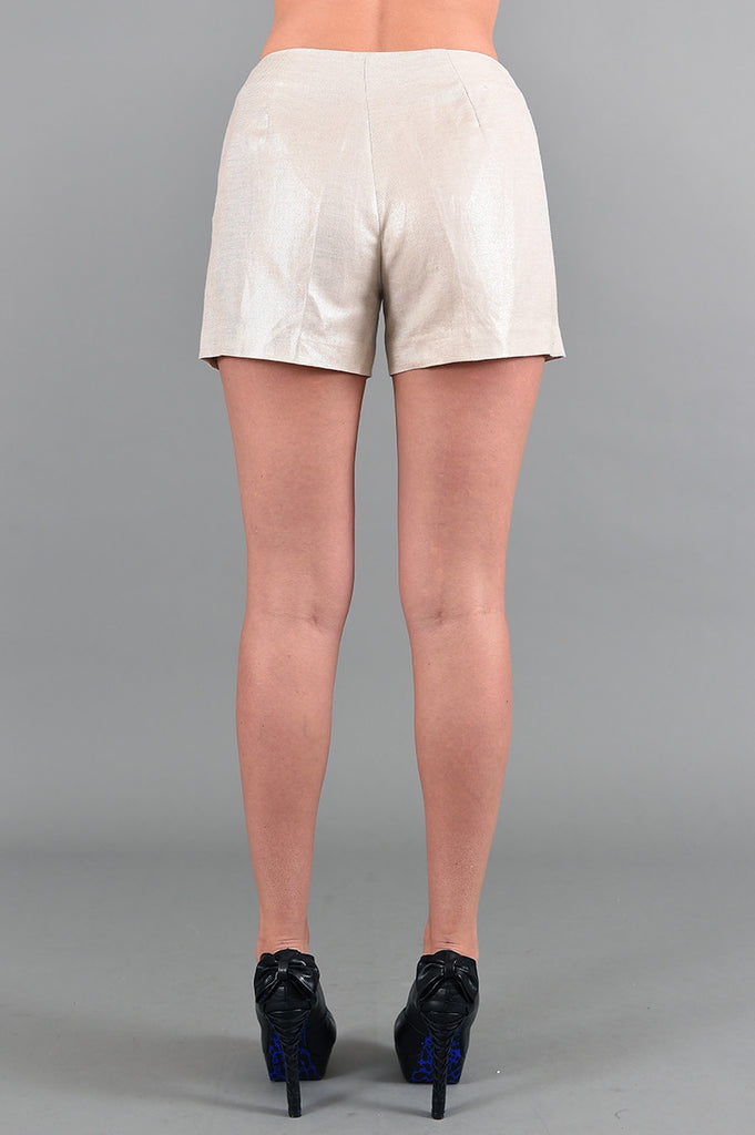 Metallic Beige with Silver Alberto Makali Shorts