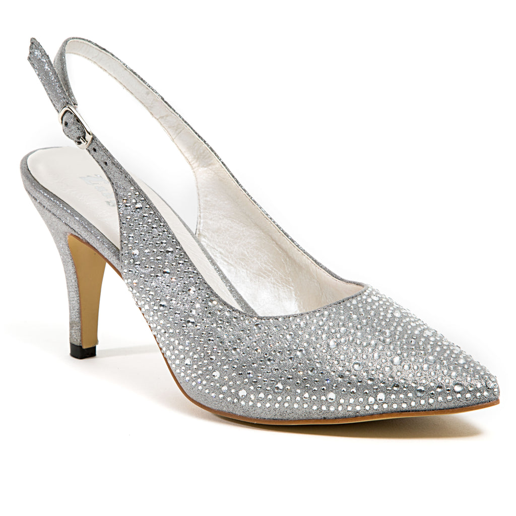 ELYSSA SILVER LADY COUTURE SHOES