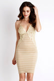 Ella Velvet Painted Caviar Cream Baccio Couture Dress