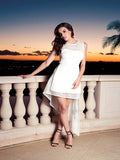 538 White Hi/Low Nicole Bakti Dress