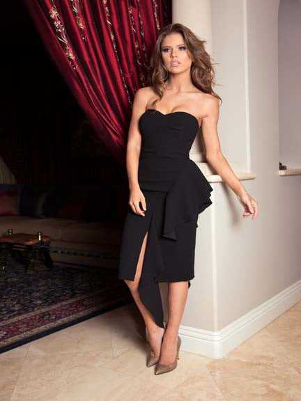 549 Black Strapless Nicole Bakti Dress