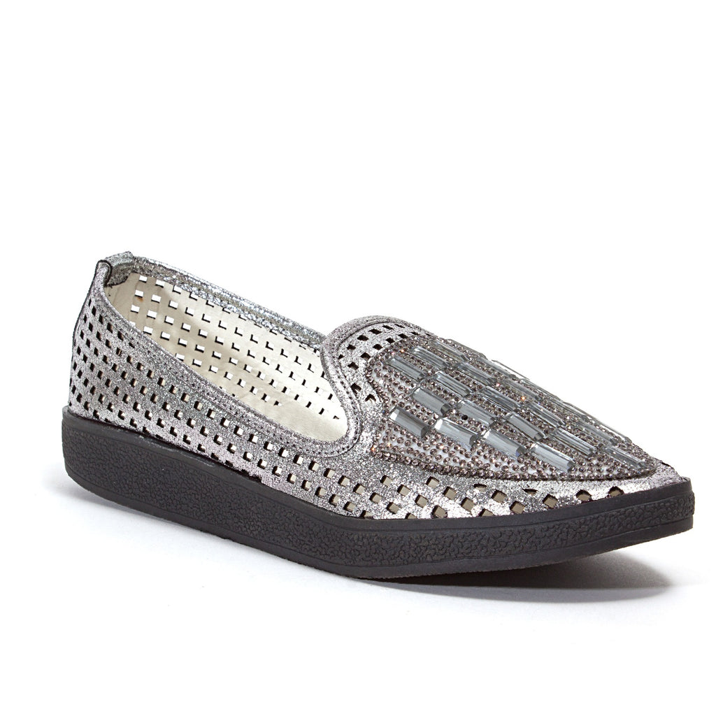 FEVER PEWTER LADY COUTURE SHOES