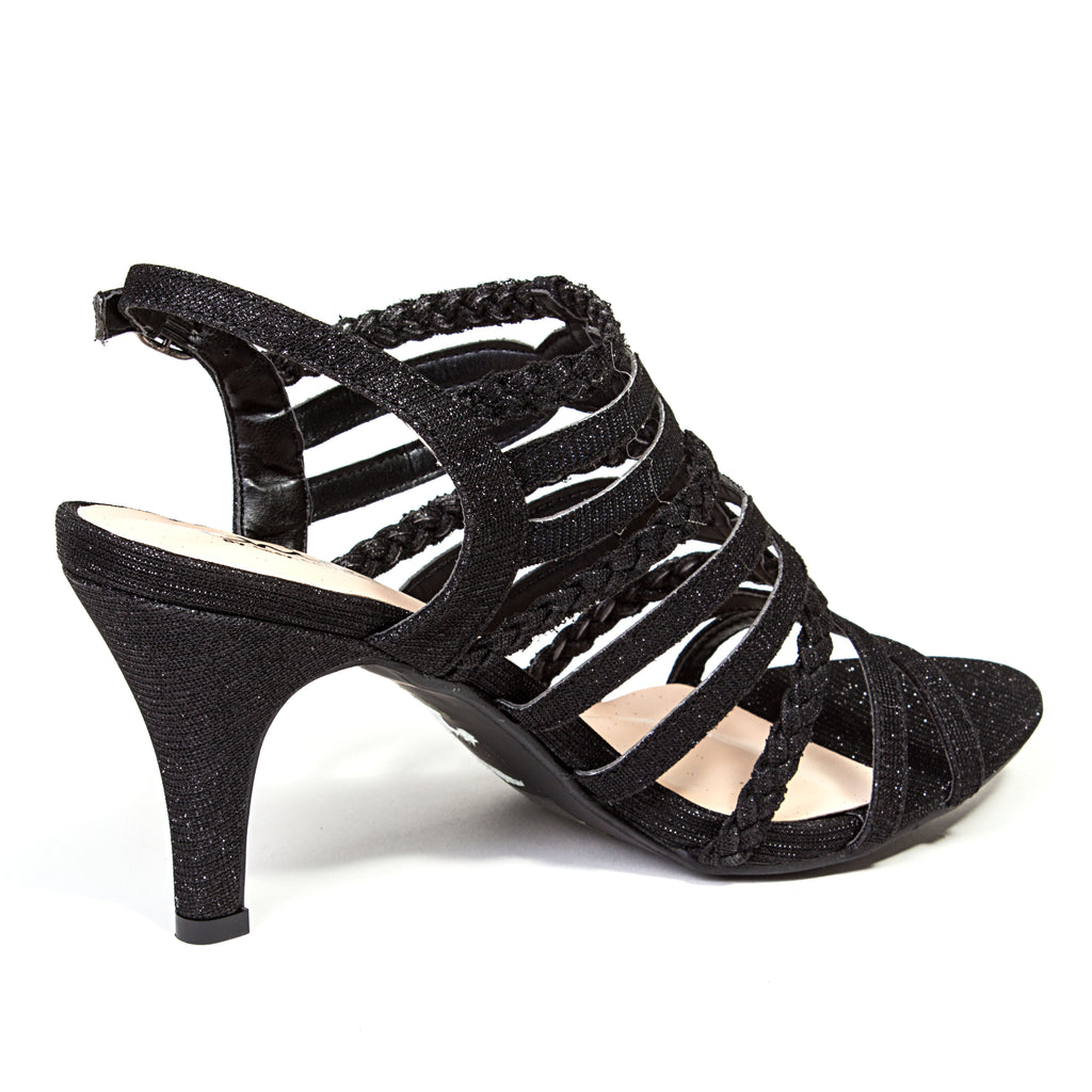 GABBY BLACK LADY COUTURE SHOES