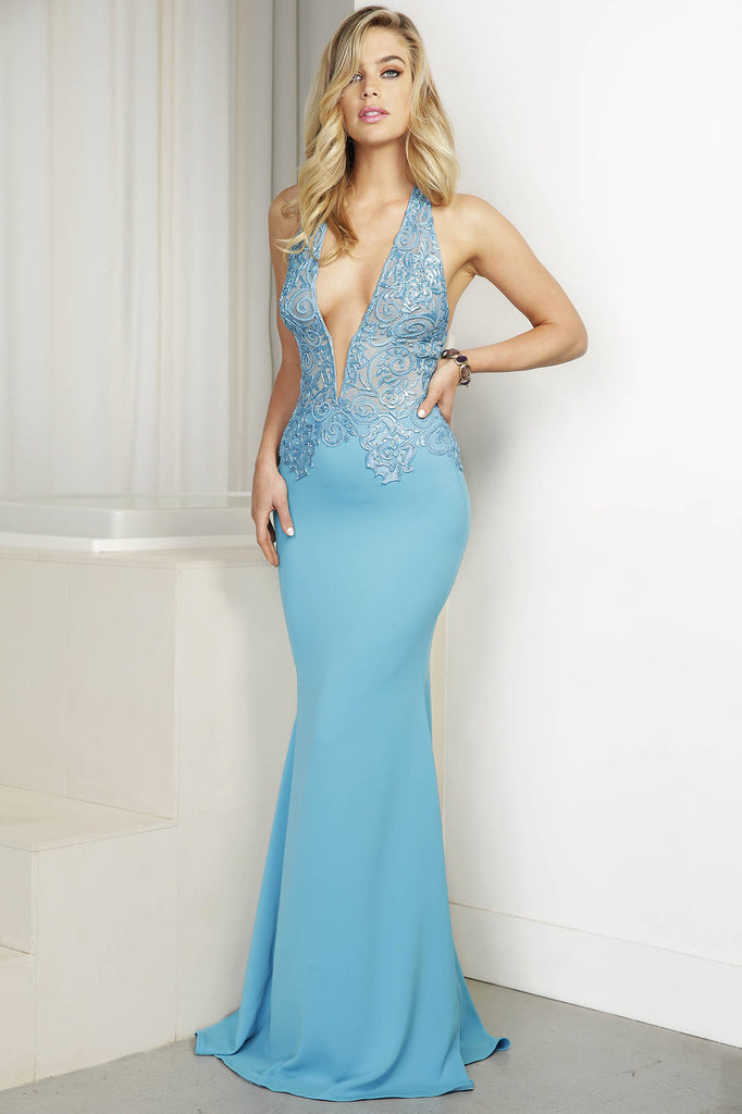 Sharon Blue Baccio Couture Gown