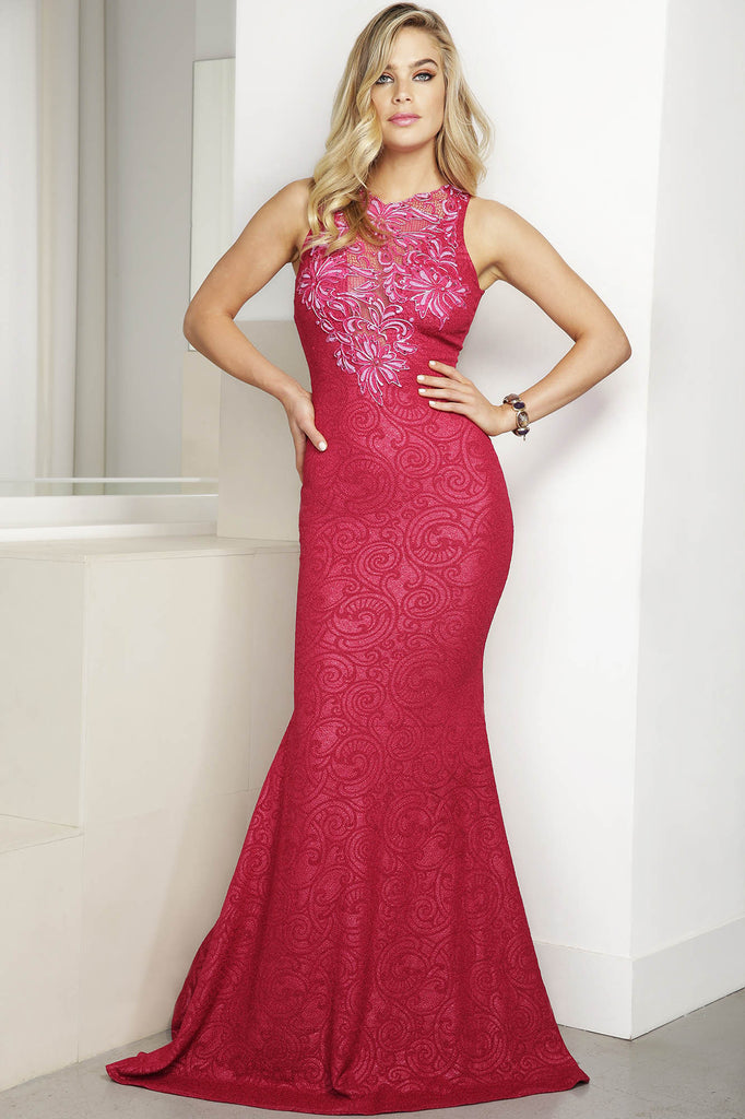 Tania Red Baccio Couture Gown