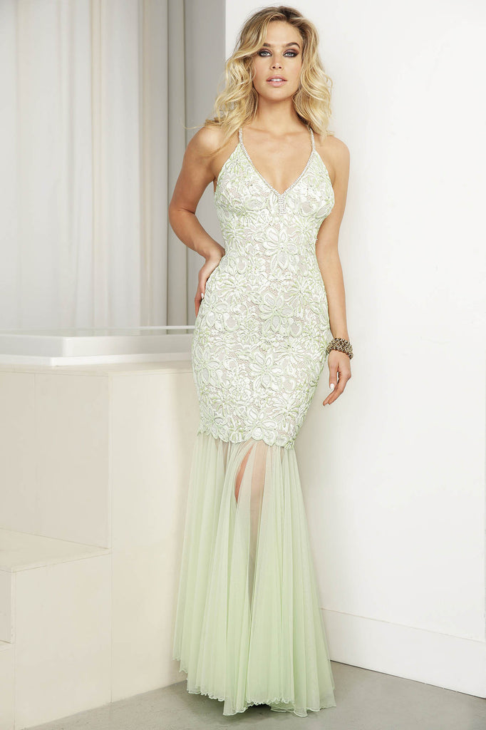 Karla Light Green Baccio Couture Gown