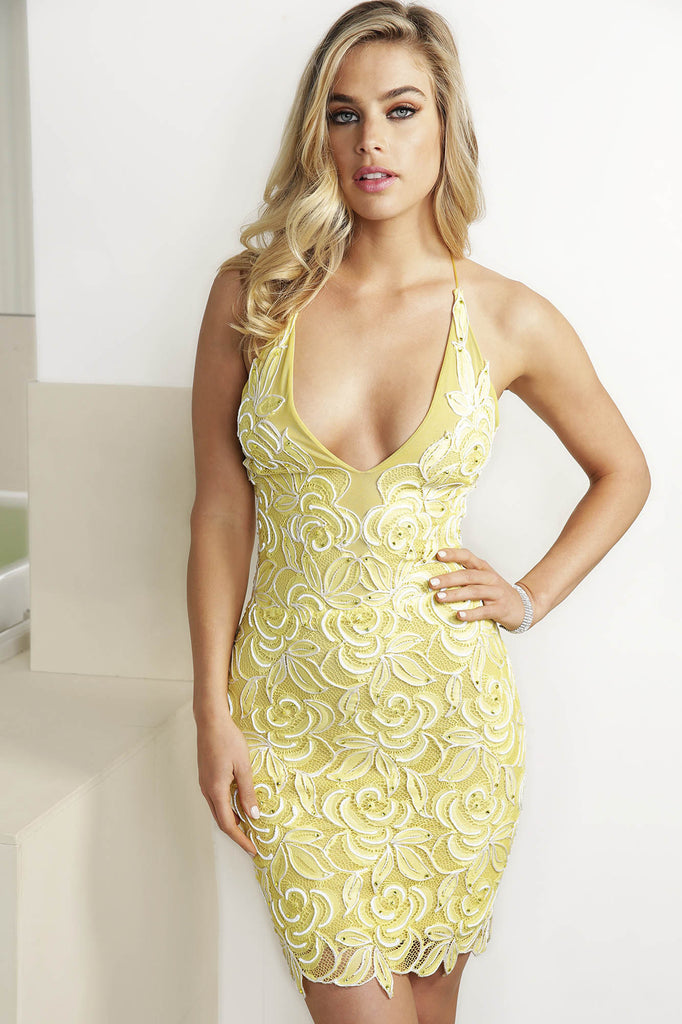 Tabata Yellow Baccio Couture Dress
