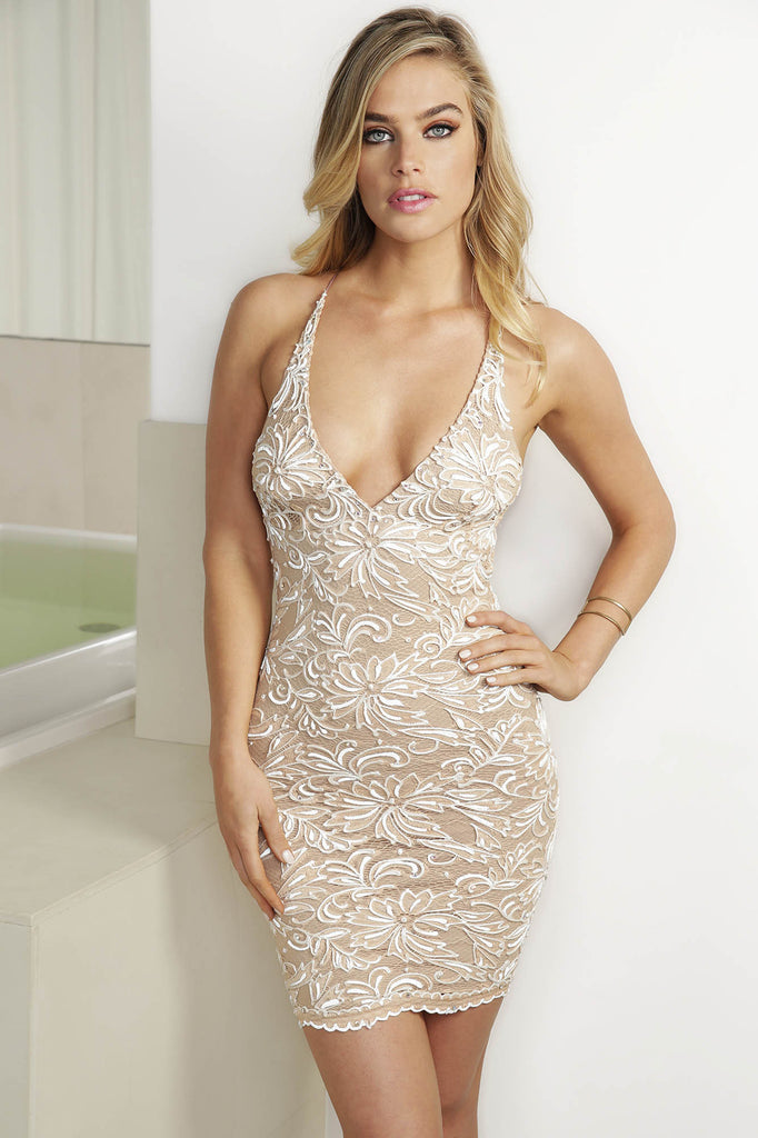Nina Champagne Baccio Couture Dress