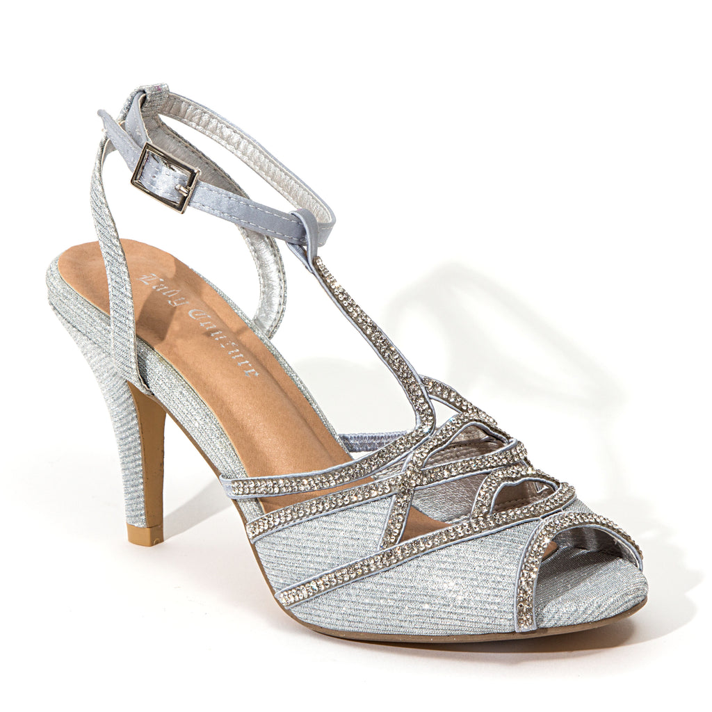 GLITTER SILVER LADY COUTURE SHOES