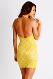 Grace Painted Caviar Yellow Baccio Couture Dress