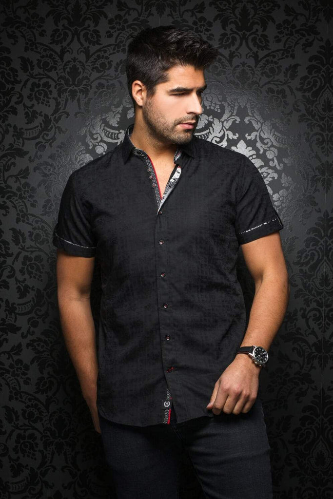 AU NOIR HERRERA SS BLACK SHORT-SLEEVE SHIRT