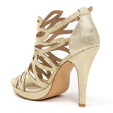 HOLIDAY GOLD LADY COUTURE SHOES