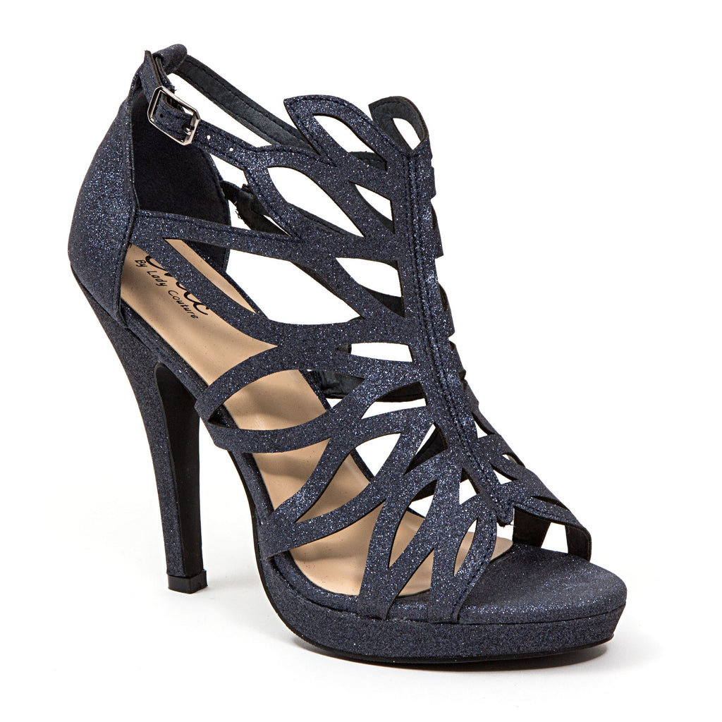 HOLIDAY NAVY LADY COUTURE SHOES