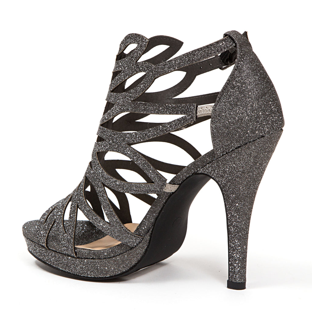 HOLIDAY PEWTER LADY COUTURE SHOES