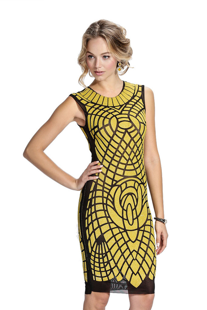 Cleopatra Mesh Baccio Couture Dress