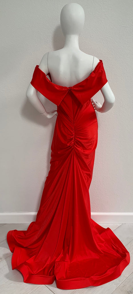 6890 Red Nicole Bakti Gown