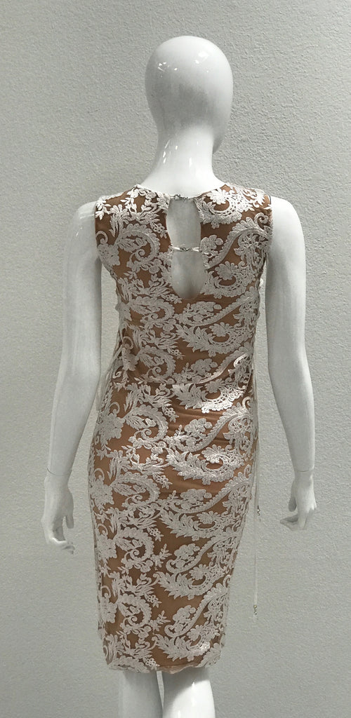 DR5710 White Lace Savee Couture Dress